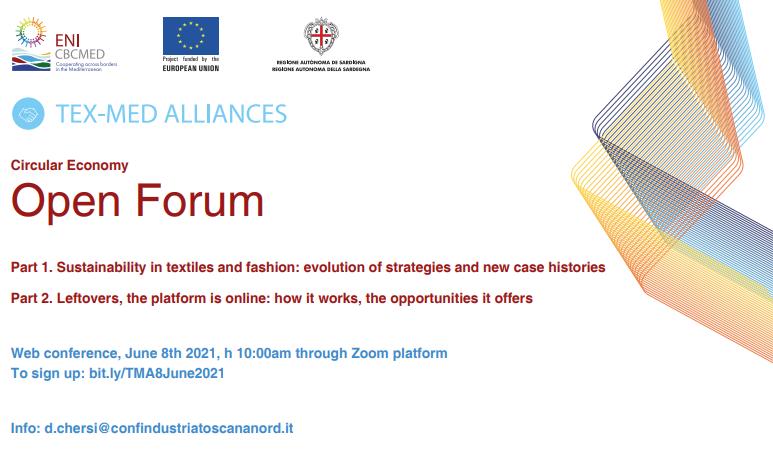 TEX-MED ALLIANCES : Circular Economy Forum